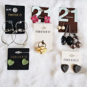 🍁 Forever 21 NWT Jewelry Earrings & Ring Bundle